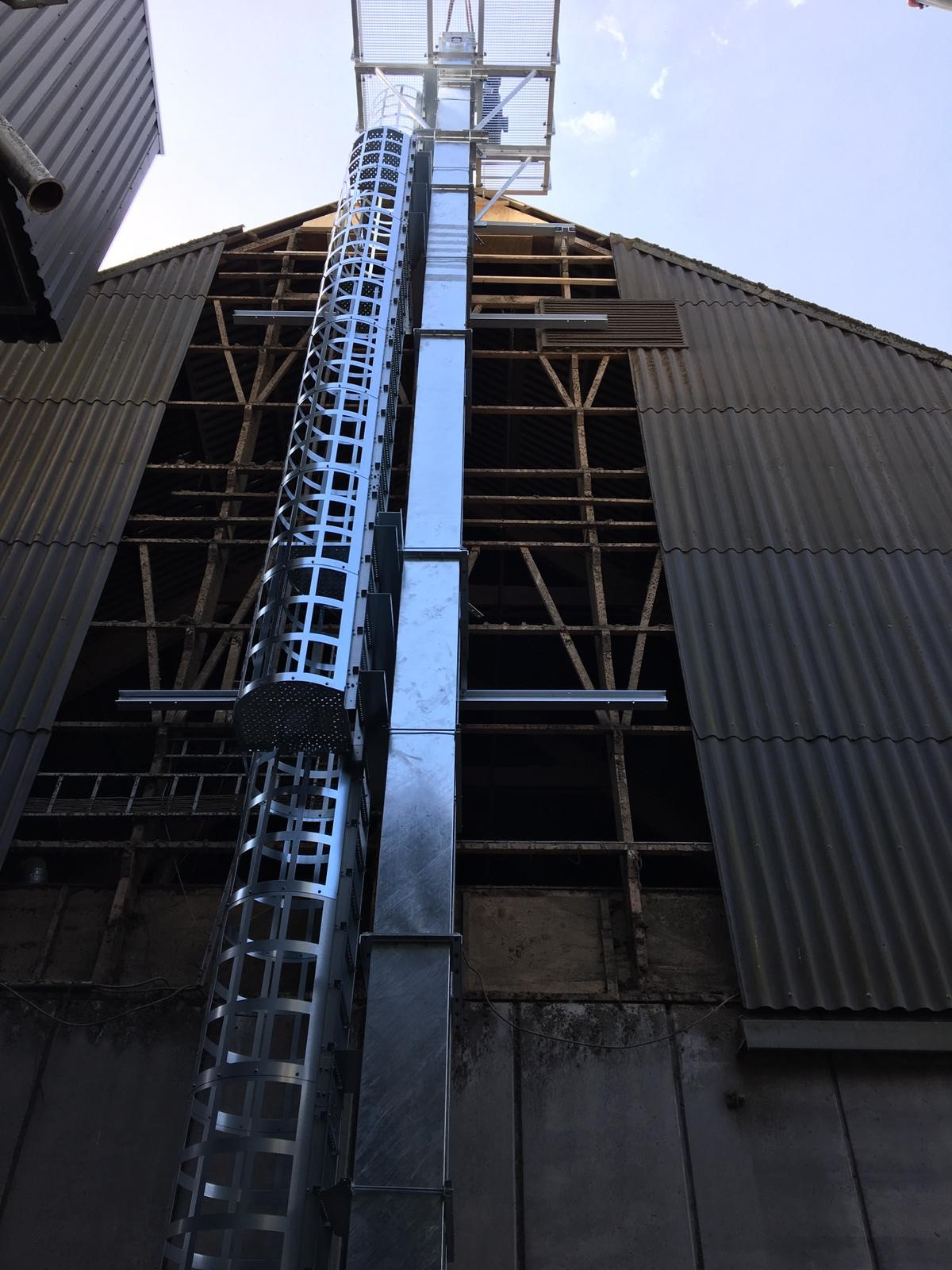 17 meter high elevator for Groenvoederdrogerij Oldambt