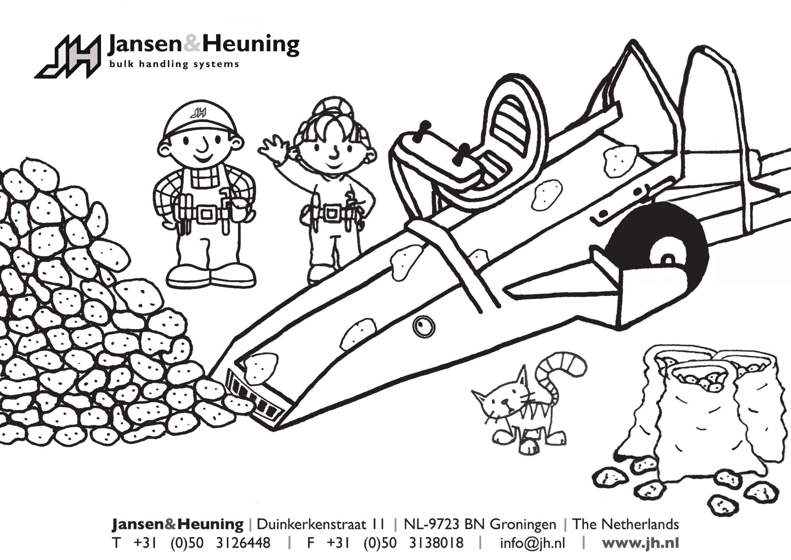 Download en print Jansen&Heuning kleurplaat